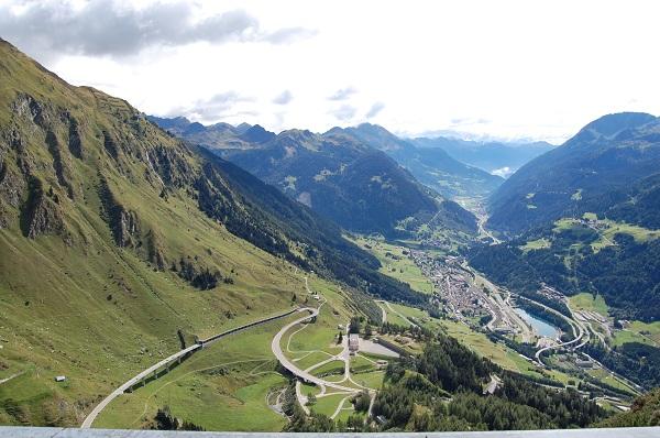 via de Gotthard pas